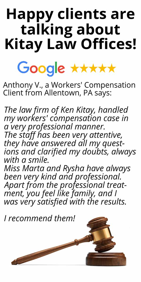 Allentown Workers' Compensation Review - Kitay Law Offices