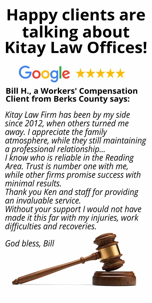 Berks County Workers' Compensation Review - Kitay Law Offices (Mobile)