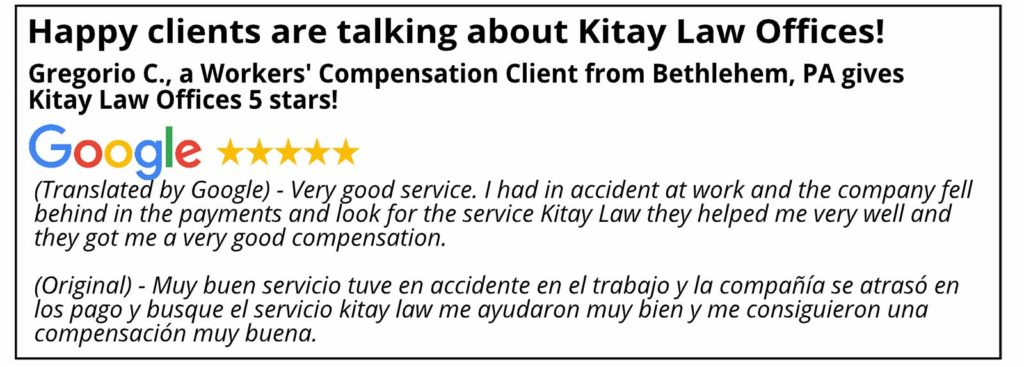 Bethlehem Workers' Compensation Review - Kitay Law Offices