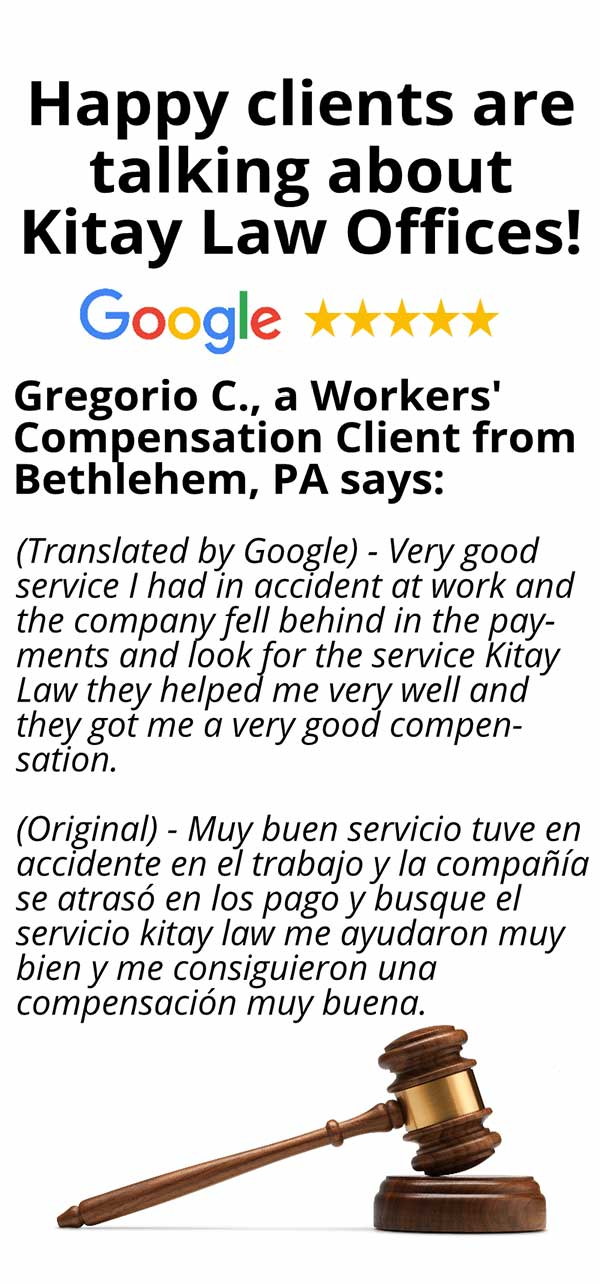 Bethlehem Workers' Compensation Review - Kitay Law Offices (Mobile)
