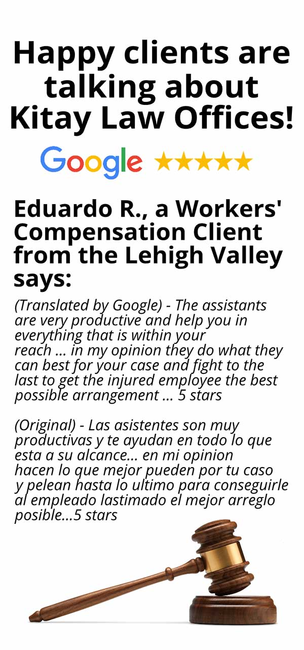 Lehigh Valley Workers' Compensation Review - Kitay Law Offices (Mobile)
