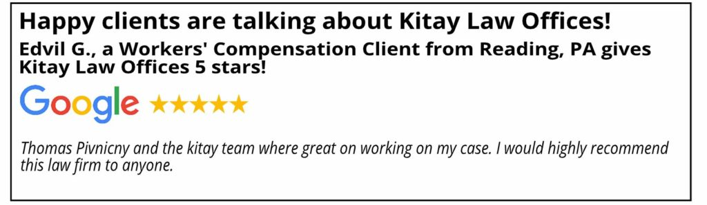 Reading Workers' Compensation Review - Kitay Law Offices