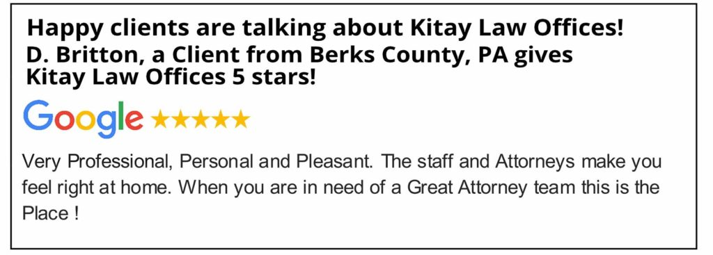 Berks County Car Accident Lawyers Review - Kitay Law Offices