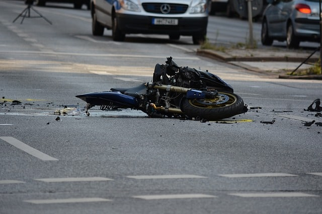 Motorcycle Accident on Road