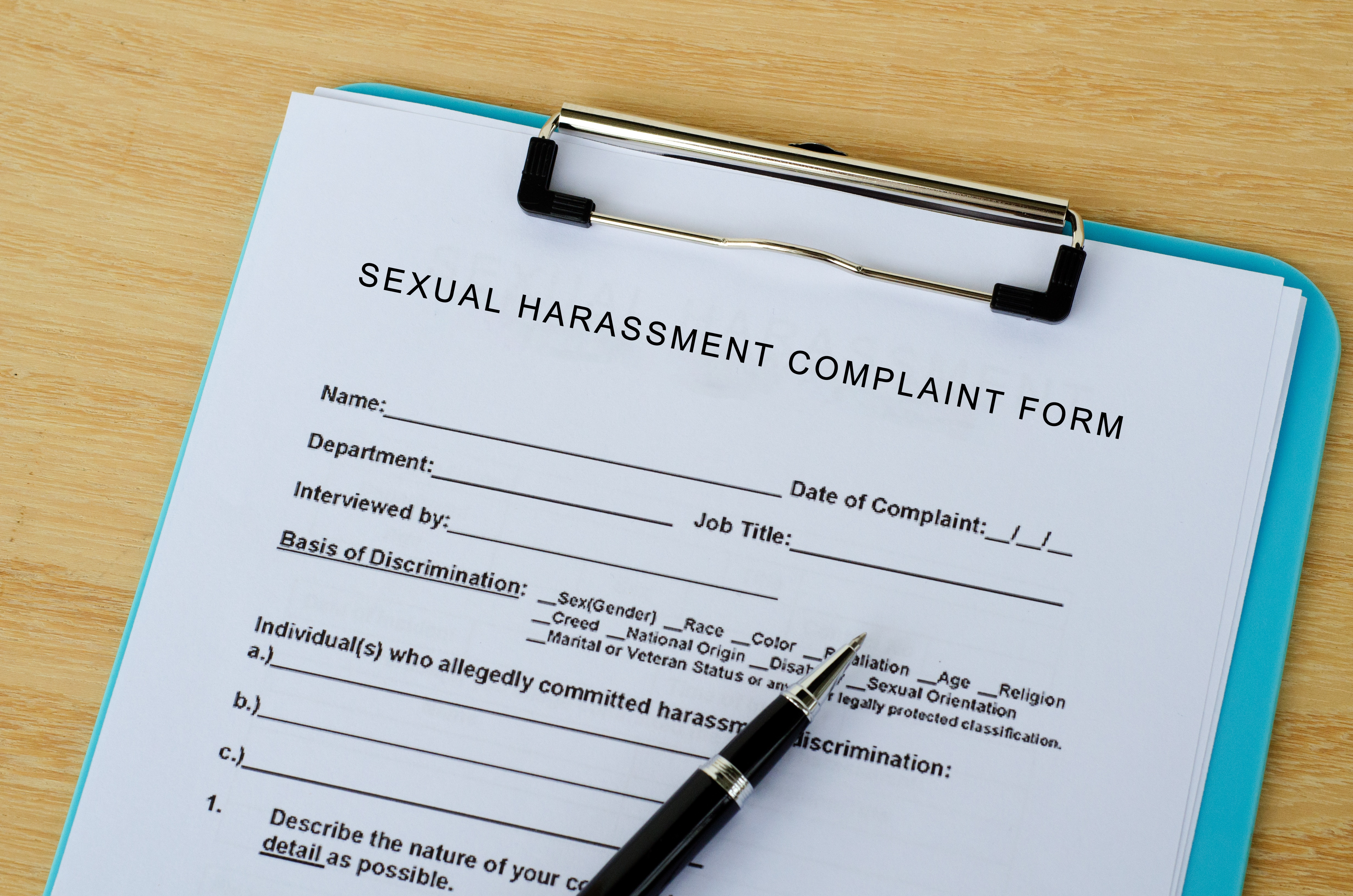 File a Sexual Harassment Complaint in Writing